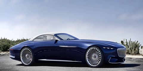 The Mercedes-Maybach 6 Cabriolet debuting at Pebble Beach measures almost 20 feet in length.