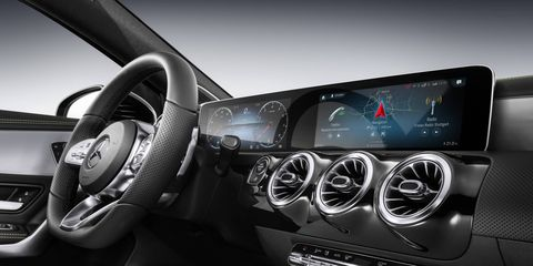 The Mercedes-Benz User Experience is a new infotainment system that is easier to use than previous systems, incorporating voice control and artificial intelligence to learn your preferences. It'll debut in a new A-Class sedan coming to our shores by the end of this year.
