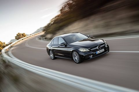 The 2019 Mercedes-AMG C43 comes with a 3.0-liter twin-turbo V6 making 385 hp and 384 lb-ft of torque.