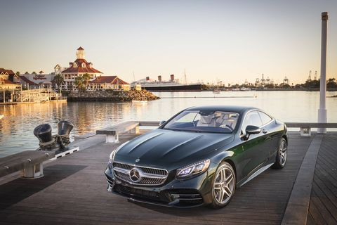The 2018 Mercedes-Benz S560 4Matic Coupe gets a 463 hp, 4.0-liter turbocharged V8.