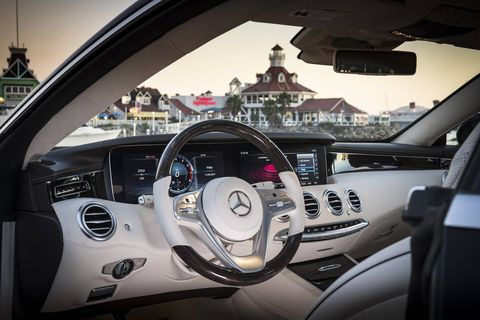 This 2018 Mercedes-Benz S560 4Matic Coupe gets a $6,400 Burmester sound system.