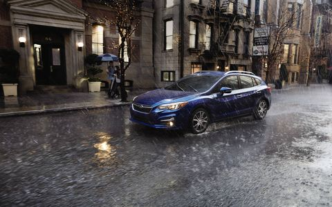 The 2017 Subaru Impreza hatch comes with a 2.0-liter H4 making 152 hp and 145 lb-ft of torque.