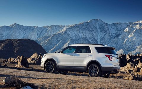 The 2017 Ford Explorer XLT with Sport Appearance Package debuted in Chicago with gray accents inside and out and a 3.5-liter V6.