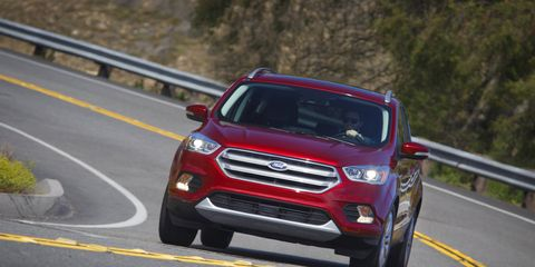 The 2017 Ford Escape is the first Ford vehicle to make Auto Start-Stop technology standard with either of the two EcoBoost offerings – a 1.5-liter engine and a 2.0-liter twin-scroll. Auto Start-Stop shuts off the engine during common stops, so the vehicle burns no gas and emits zero tailpipe emissions, restarting automatically when the brake pedal is released.