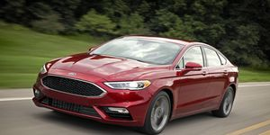 The 2017 Ford Fusion Sport is equipped with a 2.7-liter twin-turbocharged V6 making 325 hp and 380 lb-ft with a six-speed automatic.