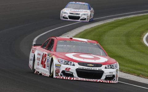 Sights from the NASCAR action at Indianapolis Motor Speedway, Saturday, July 22, 2017.