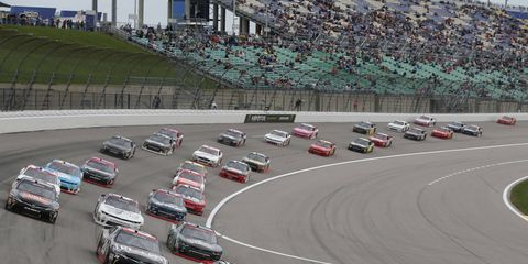 Sights from the NASCAR action at Kansas Speedway, Saturday Oct. 21, 2017.