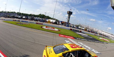 It took Joey Logano all afternoon to drive from the back of the field to the front in Sunday's Toyota Owners 400 at Richmond International Raceway, but he did, and won.