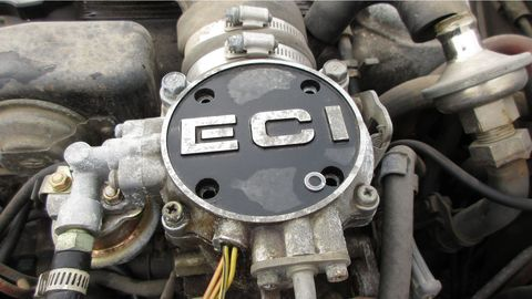 ECI was a multi-point fuel-injection system, which was futuristic stuff in 1983. This engine was rated at 145 horses.