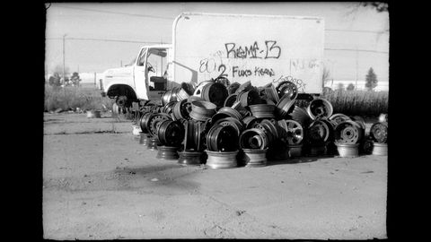 All of these photographs show the entire uncropped image, as captured by the Ansco Dollar Camera.
