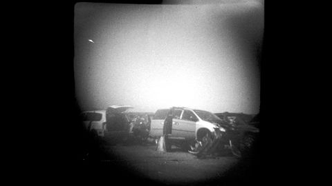 Junkyard photographs taken with Hit-type Arrow 17.5mm camera. I'm pretty sure that actual Cold War spies used sharper cameras.