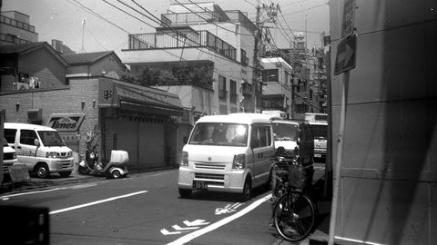 The Sunamachi Ginza is a strip of little food stalls and produce stands, and kei vans are the biggest vehicles that can make deliveries there.