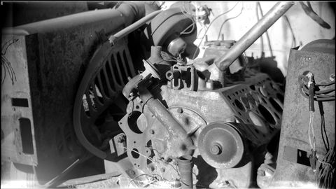 1916 Ansco Buster Brown No. 3 box camera at High Plains wrecking yard.