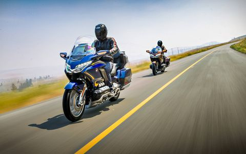 The 2018 Honda Gold Wing is all-new, it's lighter, narrower and more sporty. With a double wishbone front suspension it's smoother, and with an easy-to-operate DCT transmission it promises to bring in new buyers unfamiliar with motorcycle manual shifting and perhaps keep older buyers who might otherwise stop biking.