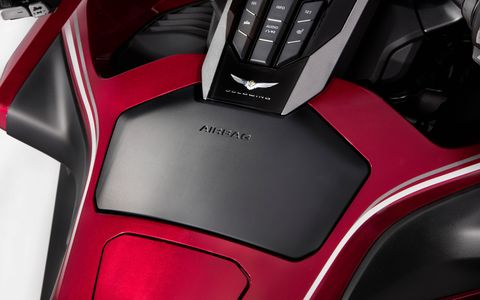 There's an airbag for increased safety in crashes.