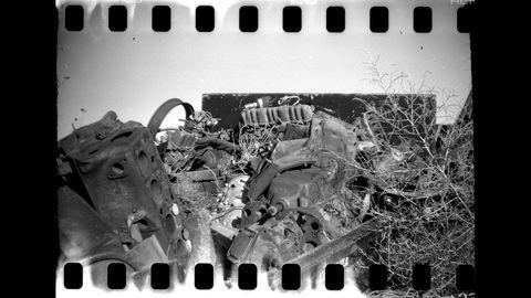 1916 Kodak No. 00 Cartridge Premo camera at High Plains wrecking yard.