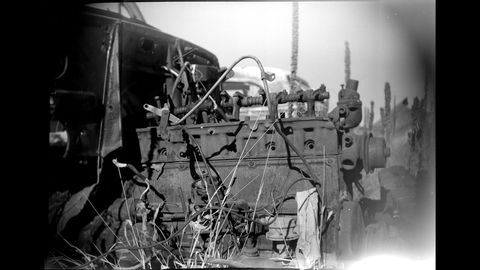 1920 Kodak Brownie No. 2 Model E camera at High Plains wrecking yard.
