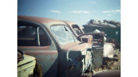 Motor vehicle, Vehicle, Car, Vintage car, Family car, Classic car, Mid-size car, Vehicle door, Scrap, Classic,