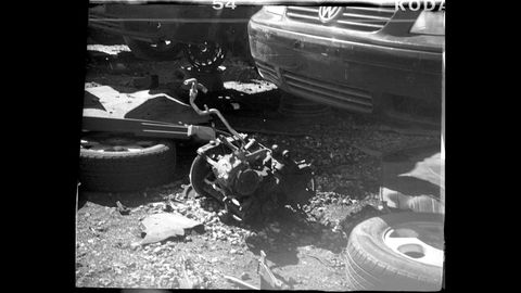 Motor vehicle, Black-and-white, Vehicle, Monochrome photography, Automotive tire, Crash, Car, Photography, Monochrome, Tire,
