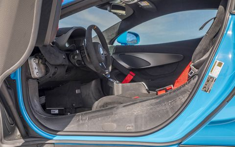 The purposeful and minimal interior of the McLaren Special Operations 570s