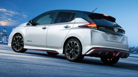 Nissan's in-house performance group, Nismo, worked over the all-electric Leaf.