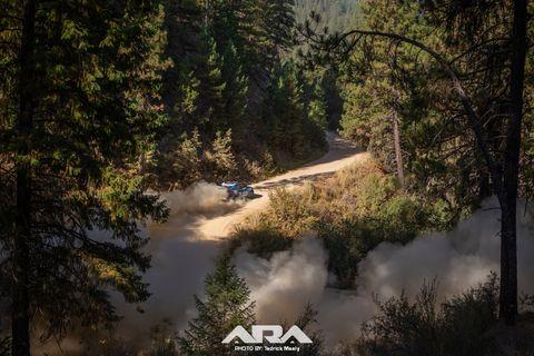 Patrik Sandell and Per Almkvist bested SRT USA teammates David Higgins and Craig Drew to claim victory at the 2018 Idaho Rally International.