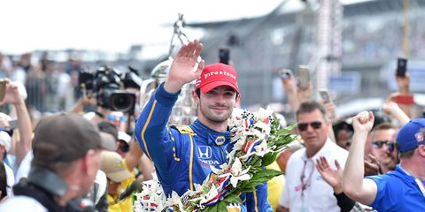 Alexander Rossi after his Indy 500 win.