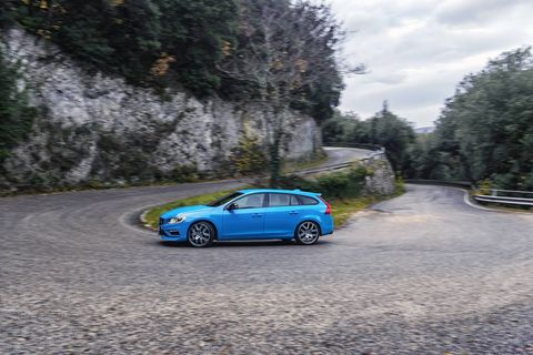 The 2018 Volvo V60 Polestar comes with a twincharged I4 making 362 hp.