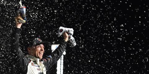 It took 17 years, but Kevin Harvick finally returned to victory lane at Atlanta Motor Speedway on Sunday.
