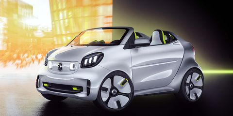 The Forease concept is based on the EQ Fortwo -- the brand's electric version of the Fortwo.