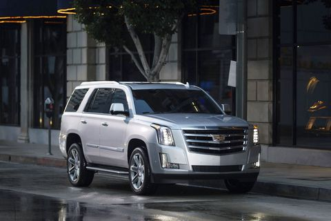 The 2018 Cadillac Escalade comes in two lengths, both of which get a 420-hp 6.2-liter V8.