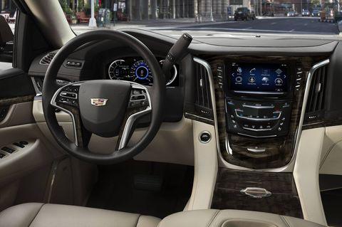 The 2018 Cadillac Escalade comes in base, Luxury, Premium Luxury, Platinum.