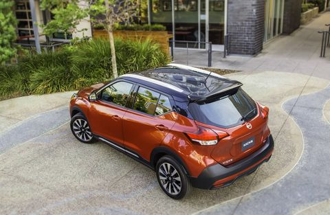 The 2018 Nissan Kicks replaces the Juke as Nissan's smallest crossover.