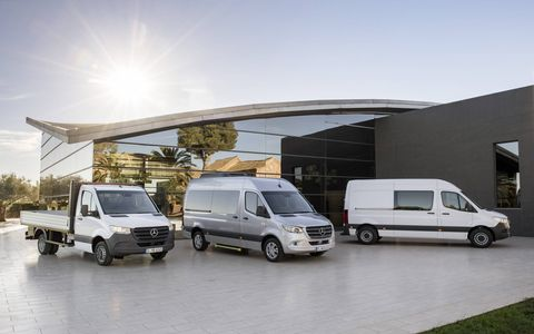 The redesigned Sprinter line has a potential of more than 1,700 different configurations worldwide.