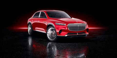 The Vision Mercedes-Maybach Ultimate Luxury concept, which made its world debut at the 2018 Beijing auto show, is an all-electric preview of a super-luxury SUV. With a 207-inch overall length and 24-inch turbine-style wheels, plus a sedan profile with an SUV-like ride height, the concept is absolutely massive and totally unmissable.
