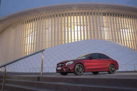 The 2019 Mercedes-AMG C43 sedan comes with a 3.0-liter, twin-turbocharged V6 with 385 hp.