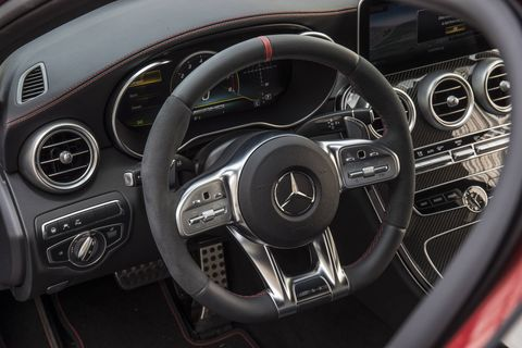 The 2019 Mercedes-AMG C43 has three modes of performance – eco, sport and sport plus.
