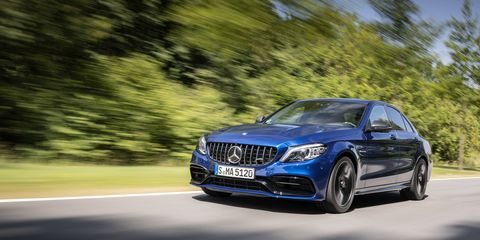 The Mercedes-AMG C 63 sedan has all the attributes of the C 63 Coupe, plus more room in the back. All AMG C 63s get the Speedshift 9-speed transmission and electronically controlled rear-axle differential, along with a mid-cycle facelift front and rear.