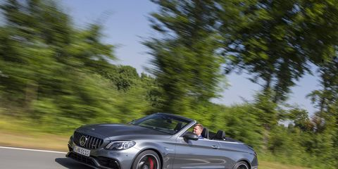 All of the above - with no roof! The Mercedes-AMG C 63 Cabriolet.