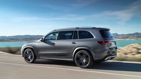 The 2020 Mercedes-Benz GLS comes with either a 4.0-liter twin-turbo V8 or a 3.0-liter inline-six.