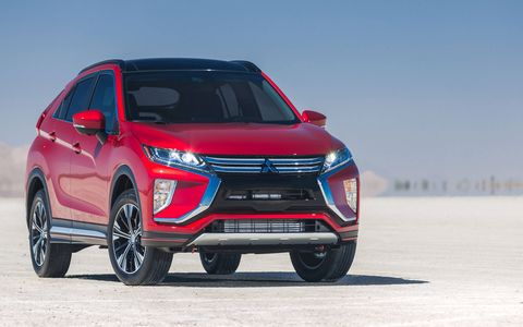 The 2018 Mitsubishi Eclipse Cross has a turbocharged 1.5-liter four-cylinder engine.