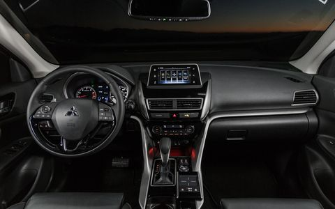 The Eclipse Cross supports both Apple CarPlay and Android Auto.