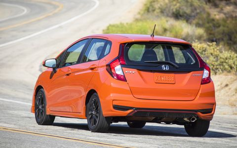 The Honda Fit Sport has a 1.5-liter four-banger good for 130 hp and 114 lb-ft of torque.