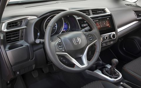 The interior on the Sport trim is much more aggressive than what the base Fit offers.