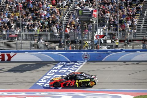 Sights from the NASCAR action at Auto Club Speedway, Sunday, Mar. 18, 2018.
