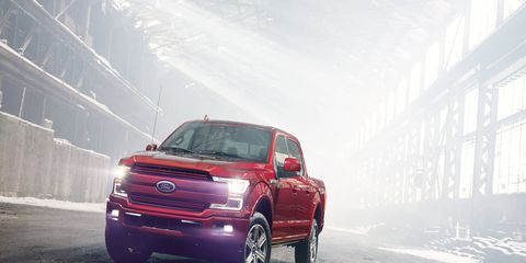 The 2018 Ford F-150 pickup was shown ahead of the 2017 Detroit auto show; the truck will be available with a diesel engine in 2018.