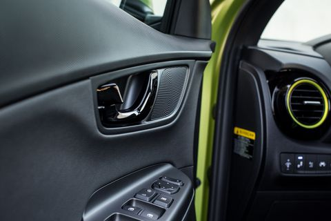 The 2018 Hyundai Kona, shown here in fully loaded Ultimate trim with lime accents