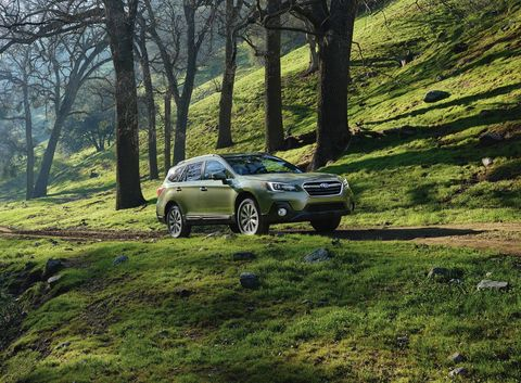 The 2018 Subaru Outback comes with either a 175-hp 2.5-liter H4 or a 256-hp H6, both get a CVT.