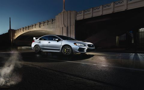 A comprehensive handling enhancement for the 2018 STI includes the revised suspension tuning as featured on the WRX, plus a revised DCCD AWD system, significantly upgraded brakes and this model's first-ever 19-inch wheels.