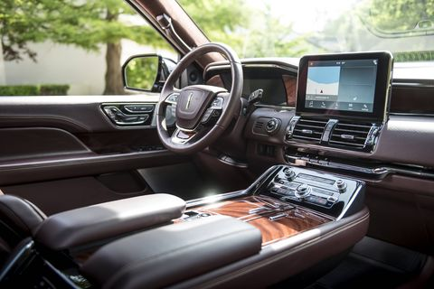 The 2018 Lincoln Navigator comes in regular and extended lengths, and with 30-way adjustable seats.